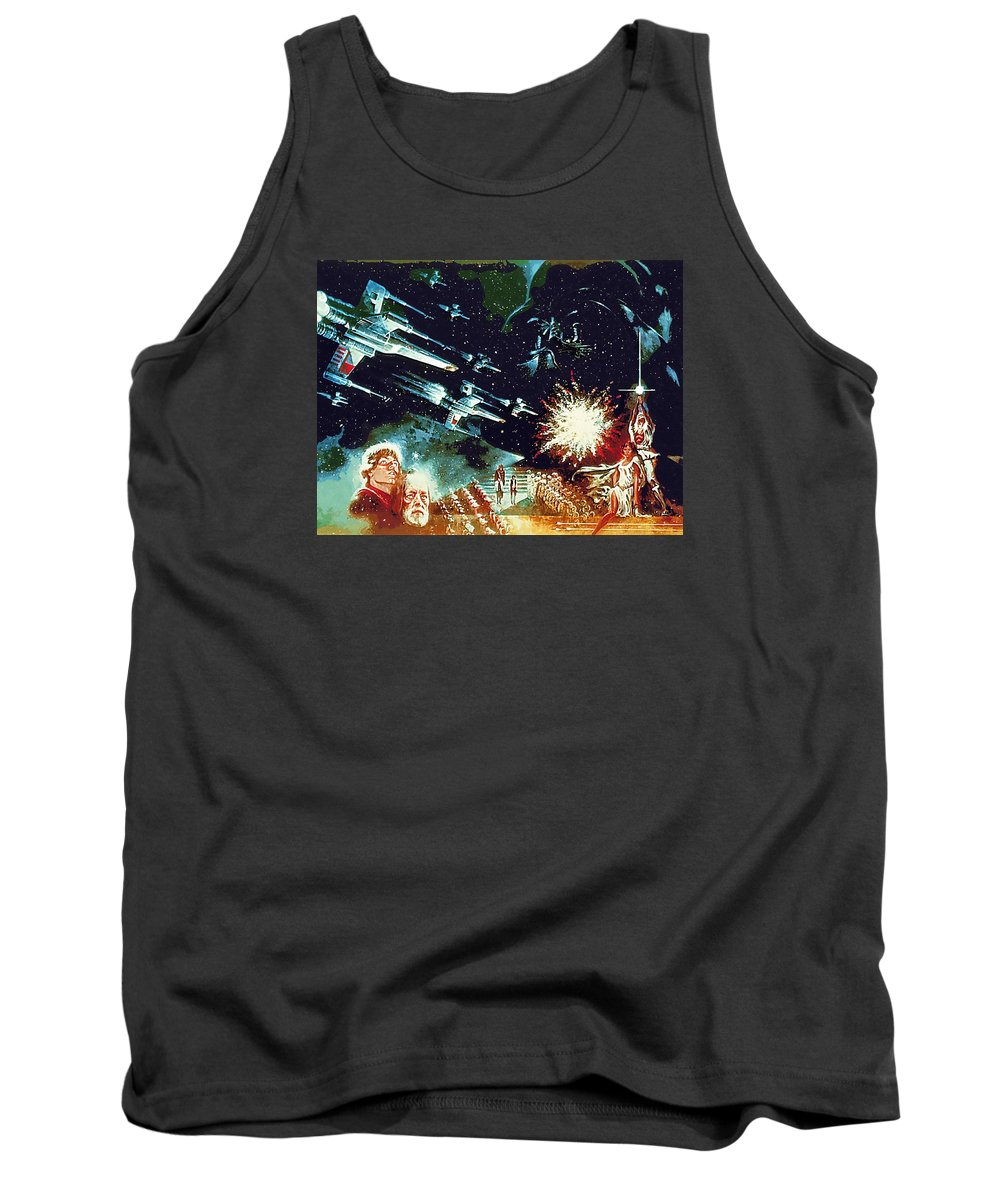 Fighter Star Wars Tank Top featuring the digital art Star Wars Galactic Heroes Art by Larry Jones
