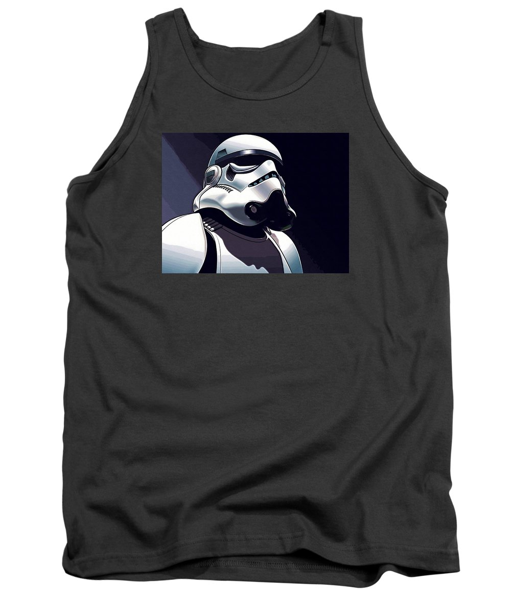 Star Wars 3 Tank Top featuring the digital art Star Wars The Trilogy Poster by Larry Jones