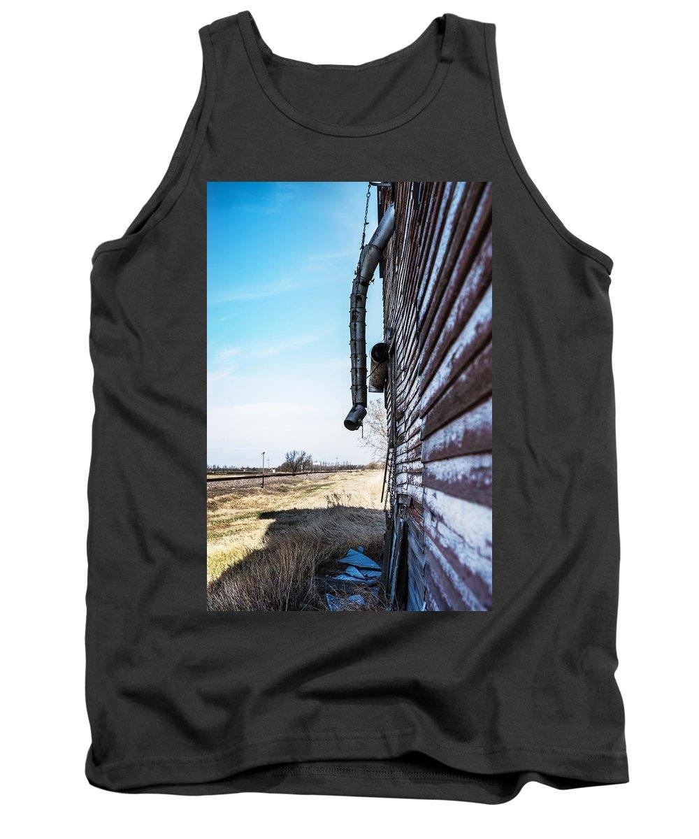 Grain Elevator Tank Top featuring the photograph Vintage Grain Elevator by Donald Erickson
