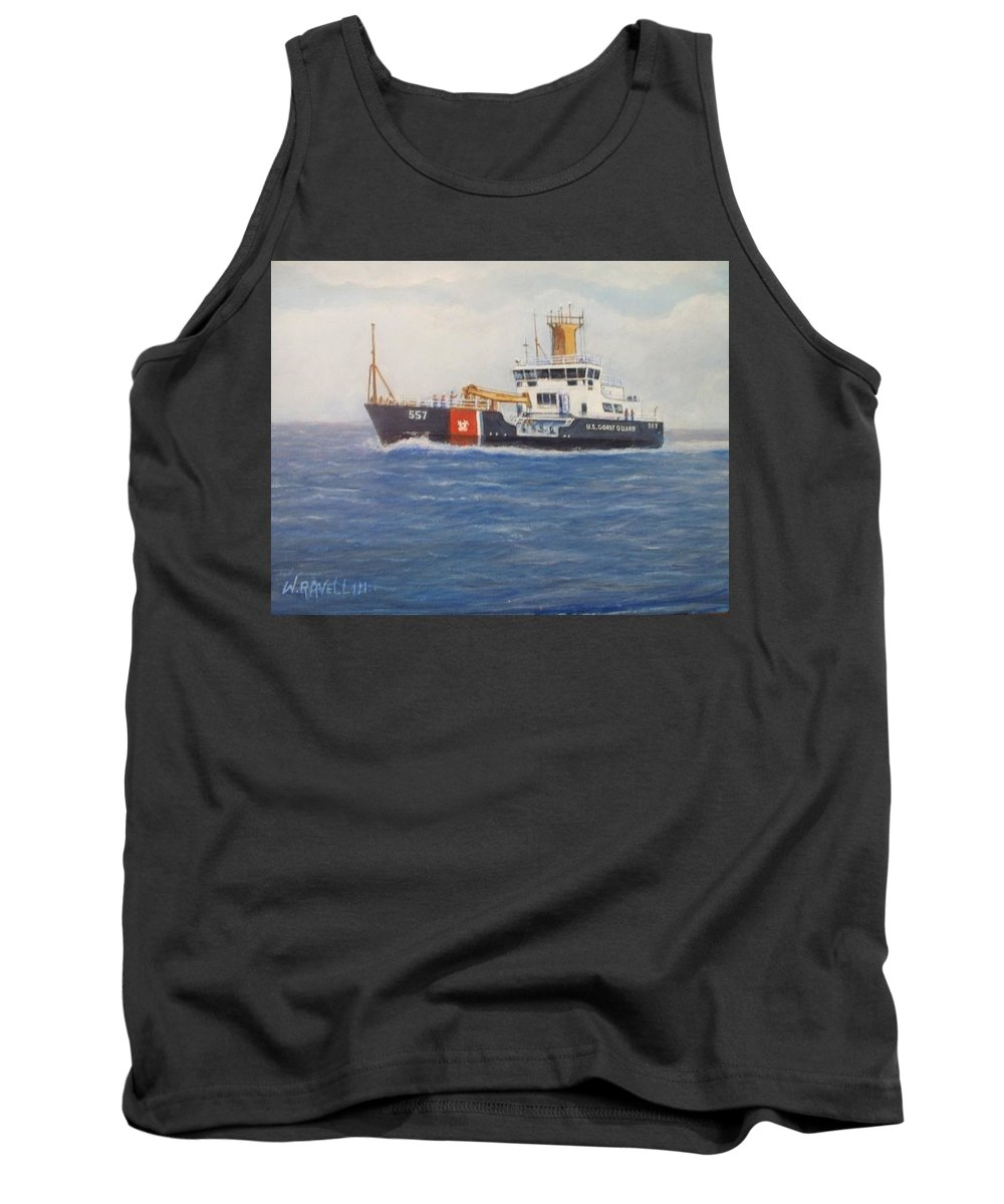 Marine Art Tank Top featuring the painting 860-859-3313 by William H RaVell III