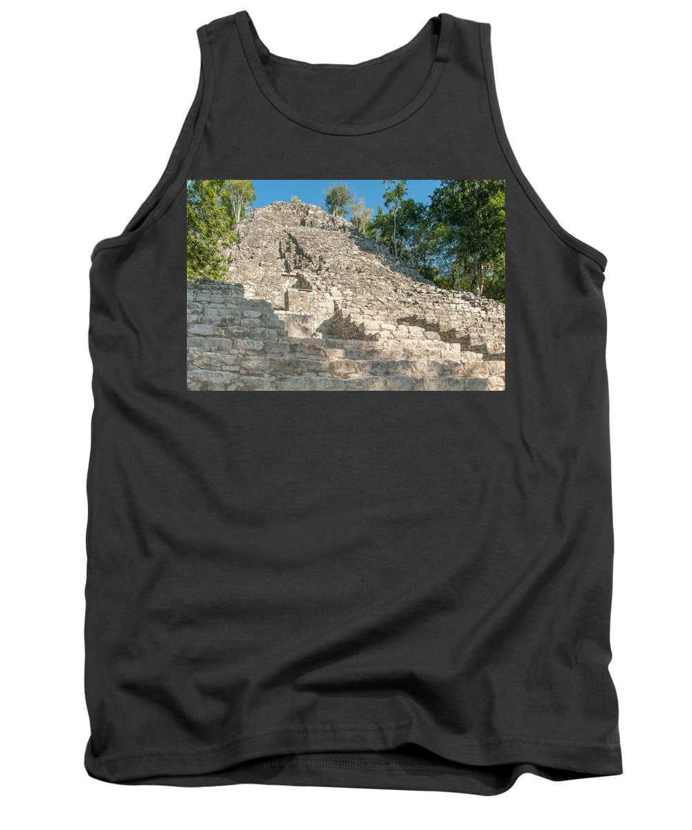 Mexico Quintana Roo Tank Top featuring the digital art Coba by Carol Ailles