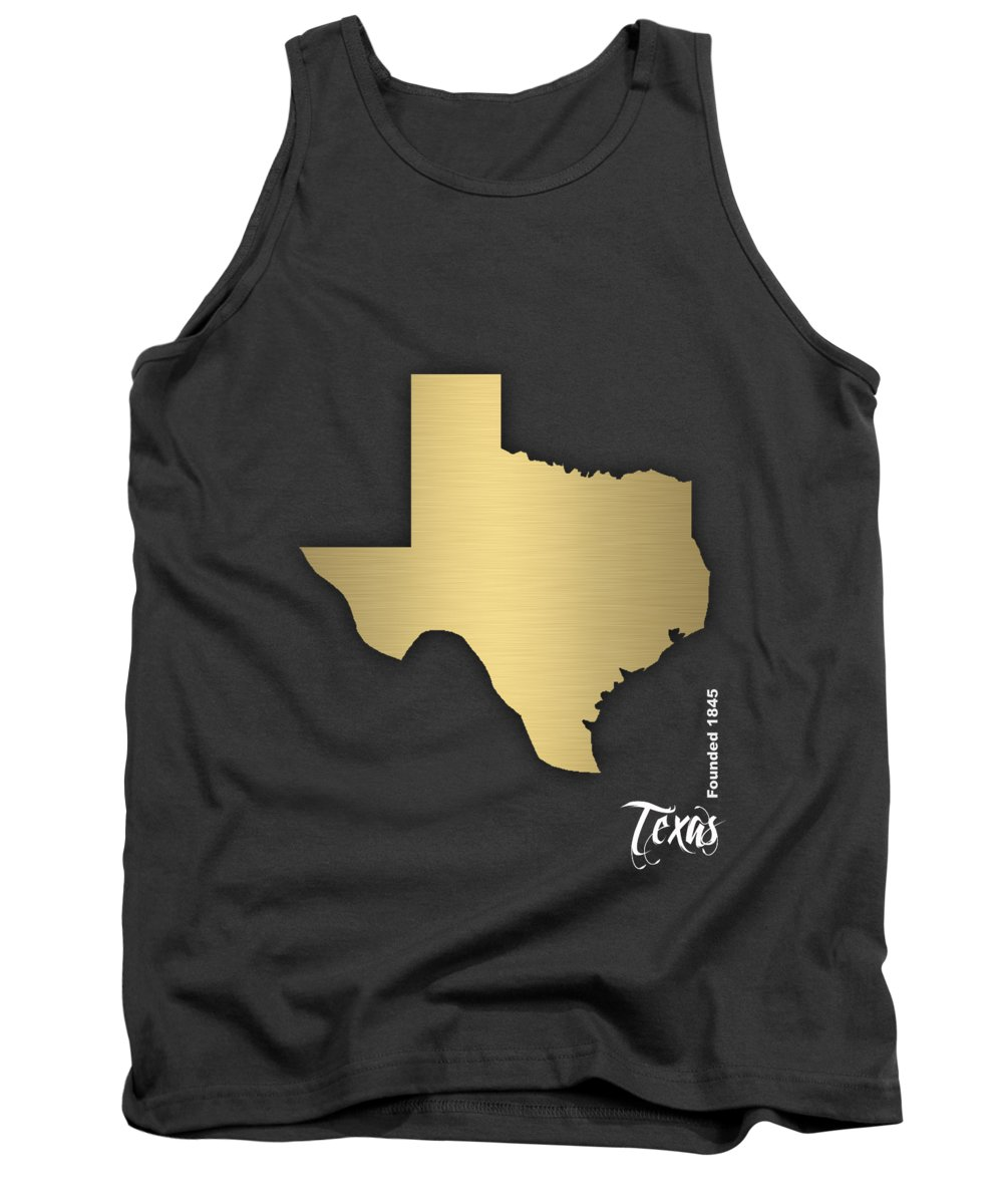Texas Art Tank Top featuring the mixed media Texas State Map Collection by Marvin Blaine