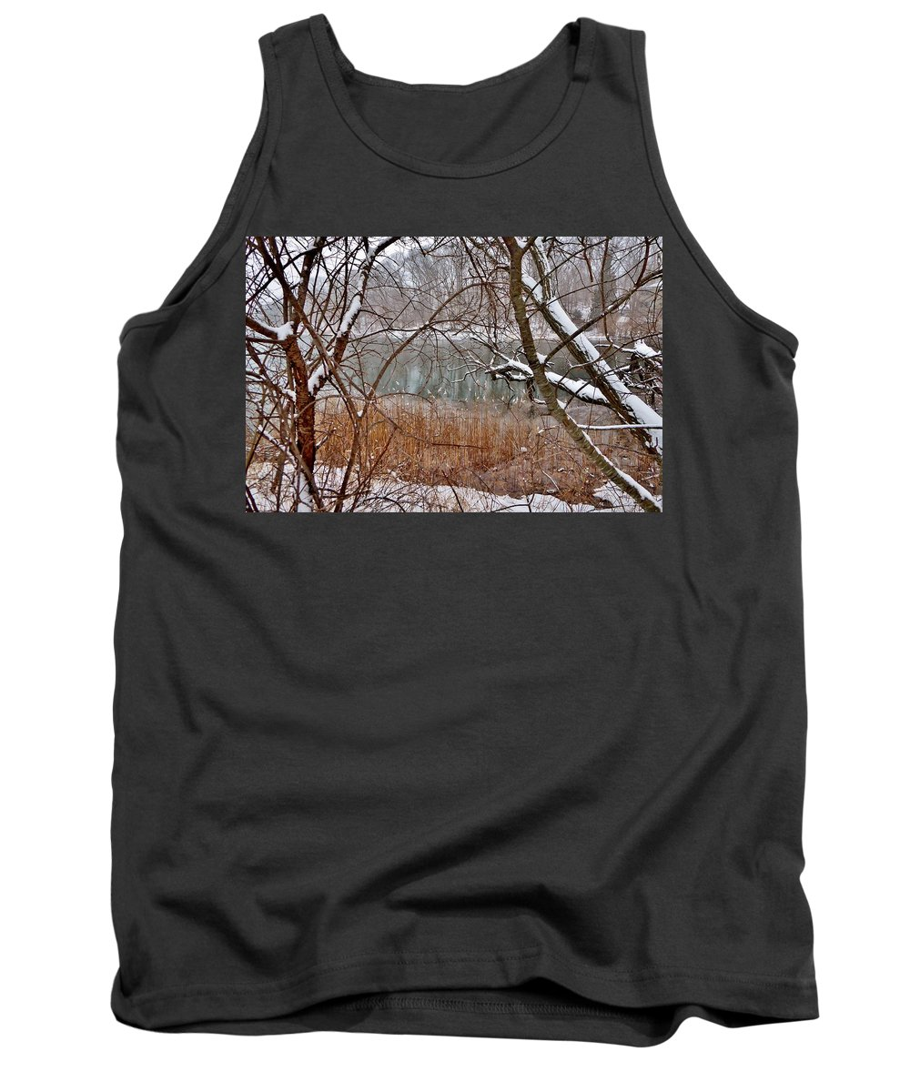 River Tank Top featuring the photograph The Bass River In Winter by Scott Hufford