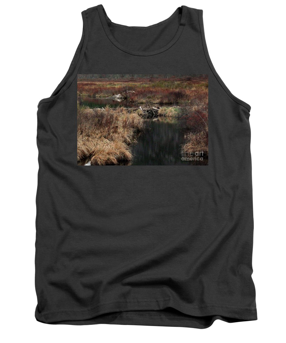 Nature Tank Top featuring the photograph A Beaver's Work by Skip Willits