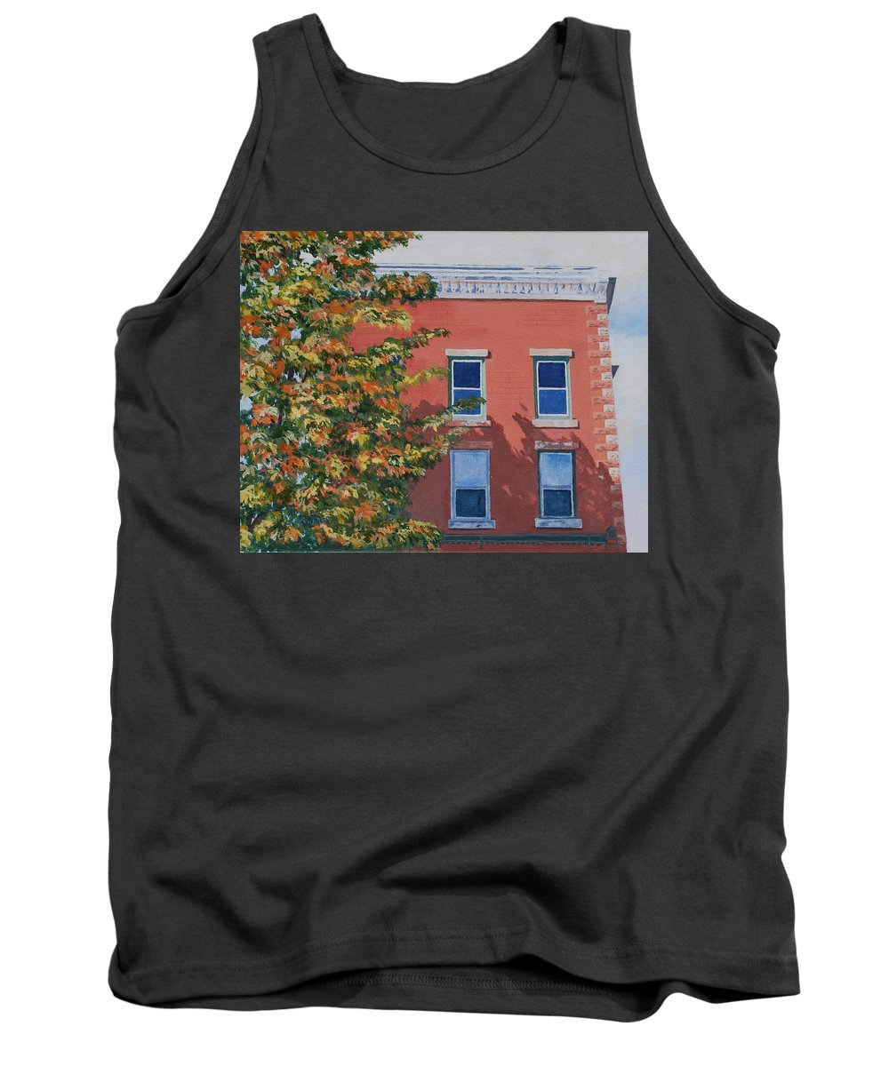 Acrylic Tank Top featuring the painting A Brick In Time by Lynne Reichhart