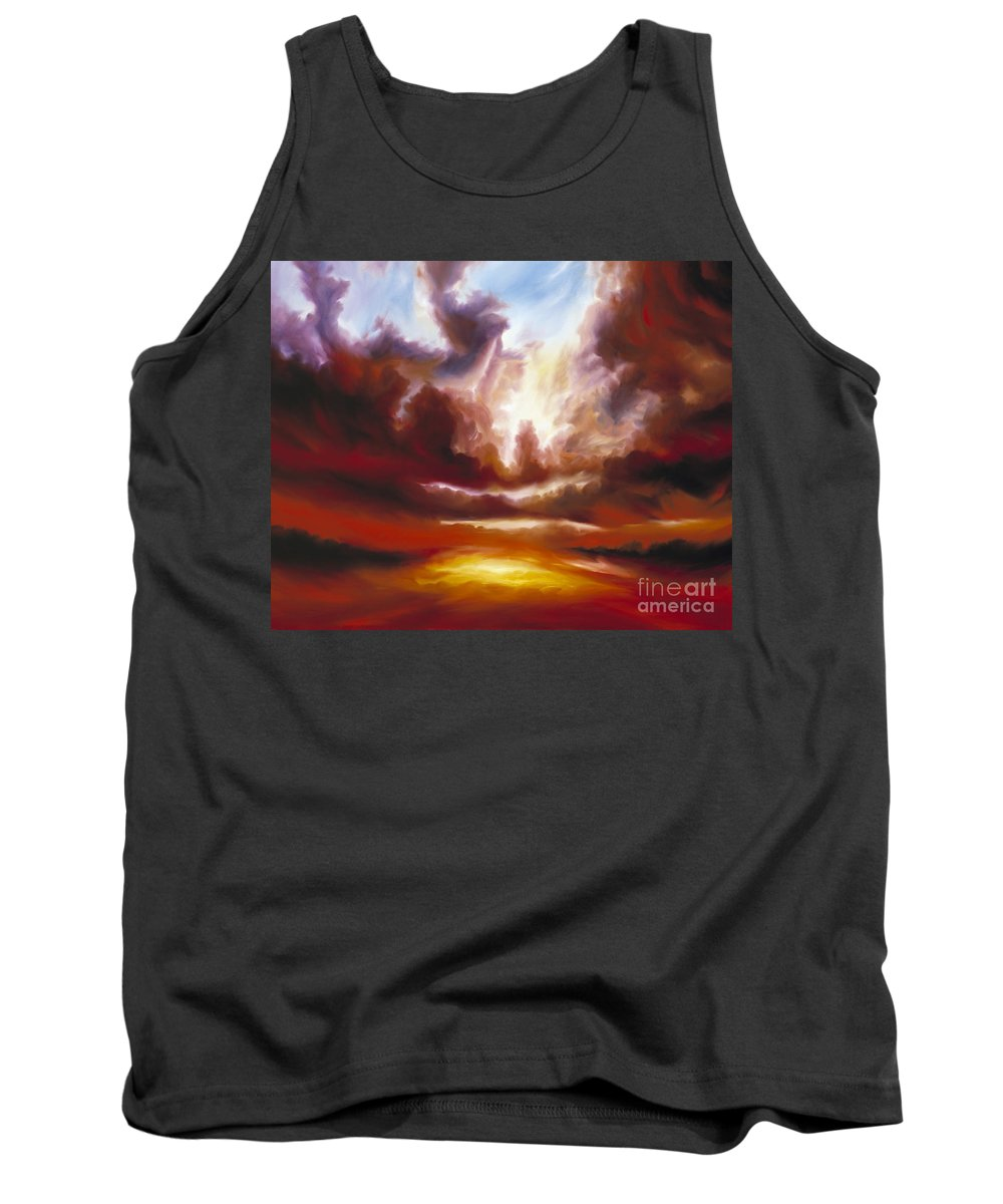 Tempest Tank Top featuring the painting A Cosmic Storm - Genesis V by James Christopher Hill