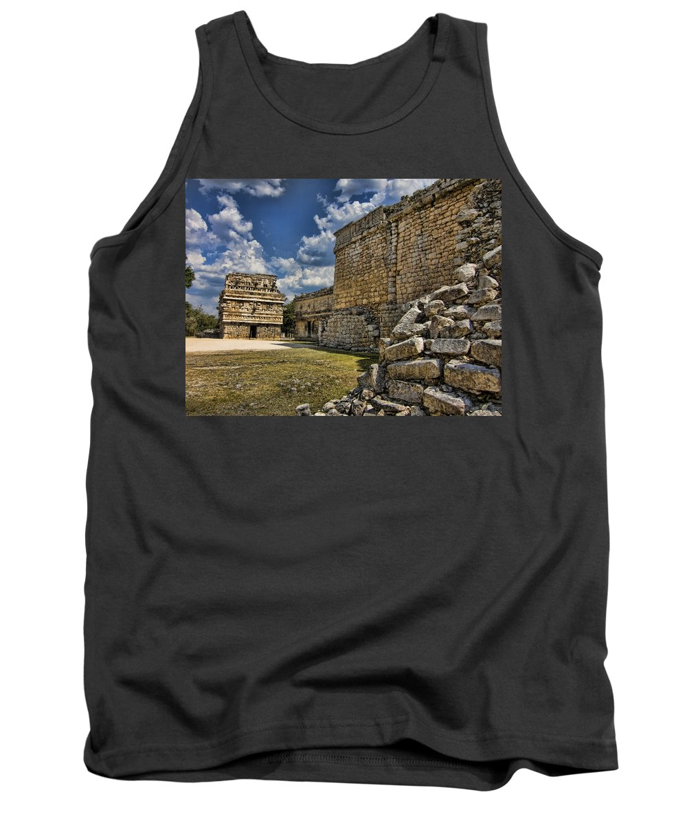 Chichen Itza Tank Top featuring the photograph A Different Angle by Douglas Barnard