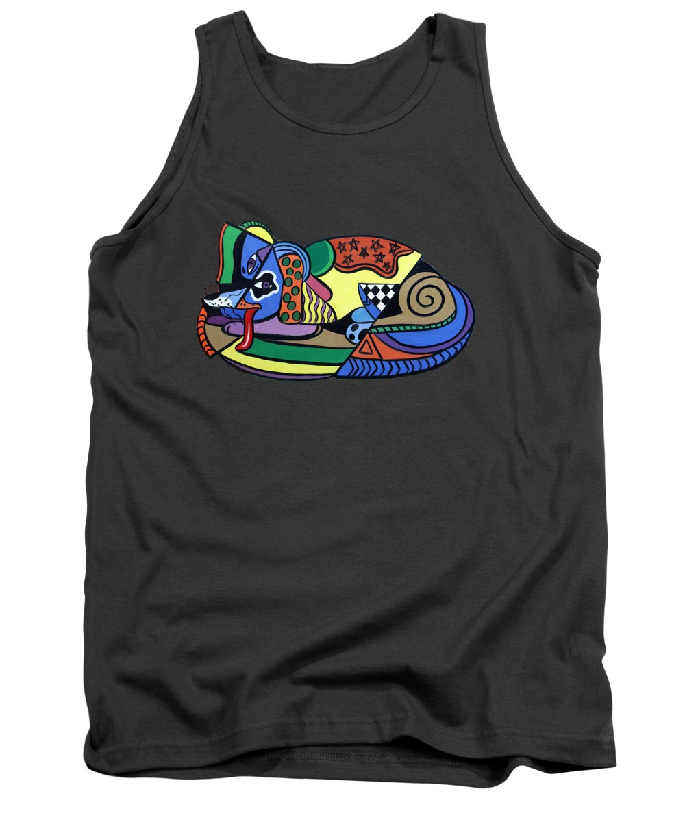 A Dog Named Picasso T-shirt Tank Top featuring the painting A Dog Named Picasso T-shirt by Anthony Falbo