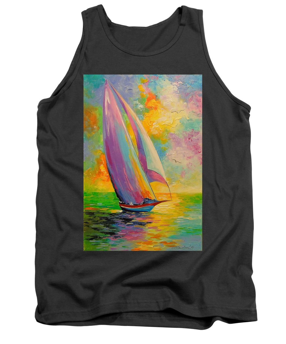 A Fresh Breeze Painting With Oil On Canvas Tank Top featuring the painting A Fresh Breeze by Olha Darchuk