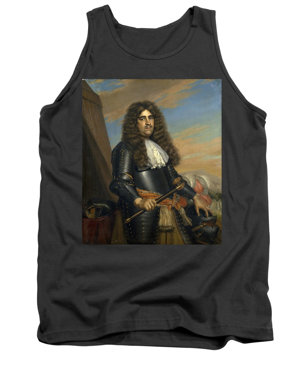 Adriaen Backer Tank Top featuring the painting A General by Adriaen Backer