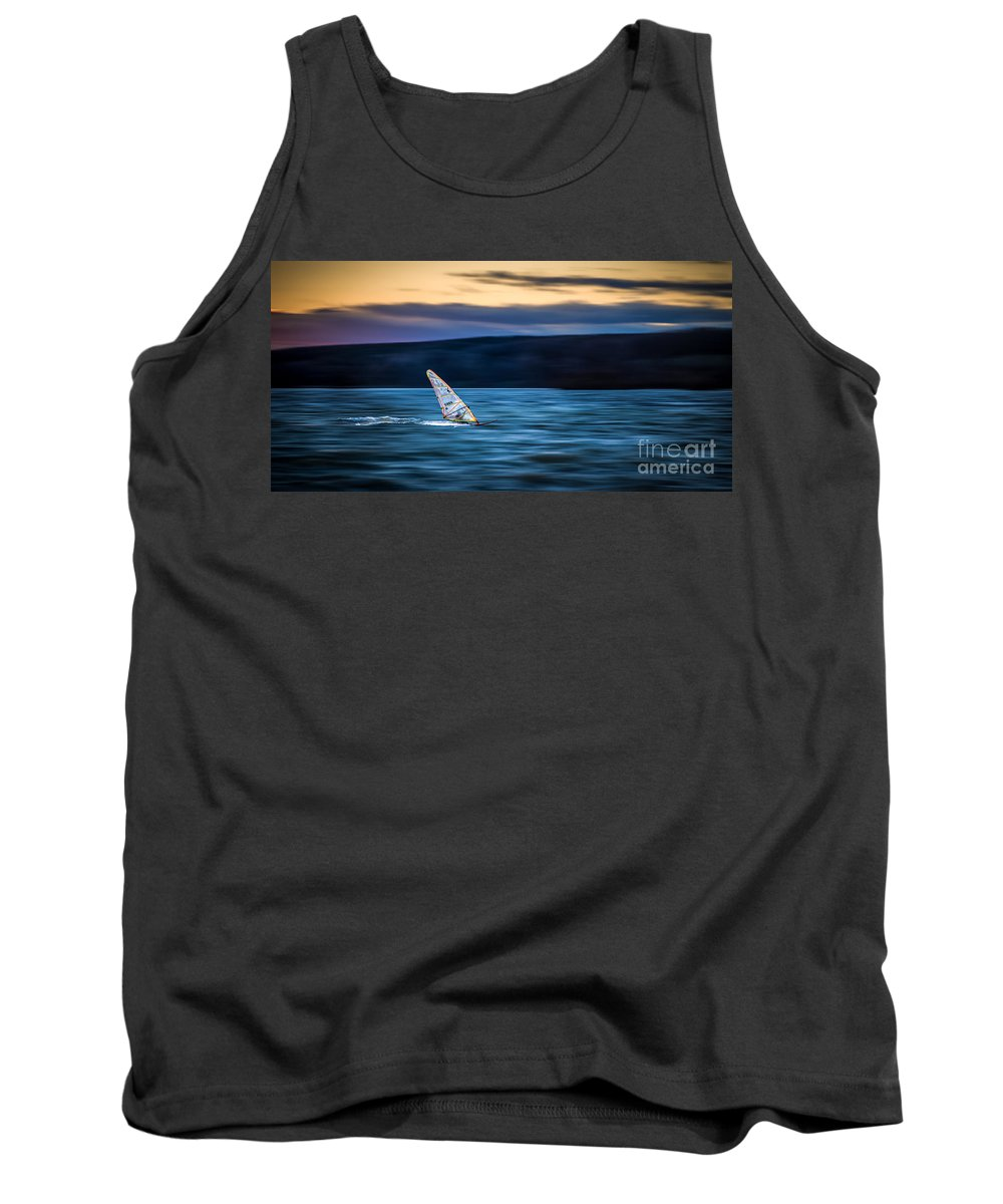 Ammersee Tank Top featuring the photograph A Great Way To End The Day by Hannes Cmarits