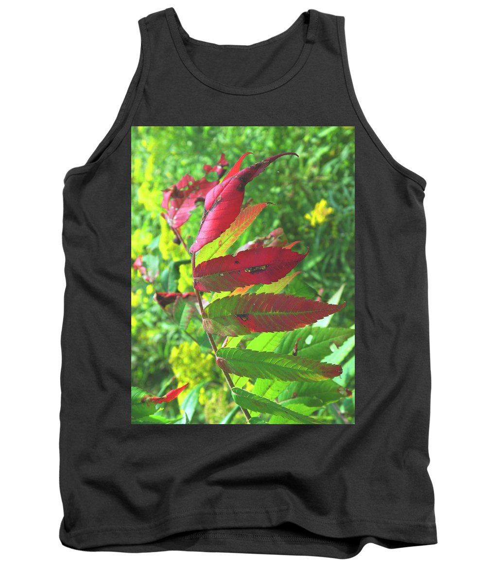 Leaves Tank Top featuring the photograph A Hard Tough Summer by Ian MacDonald