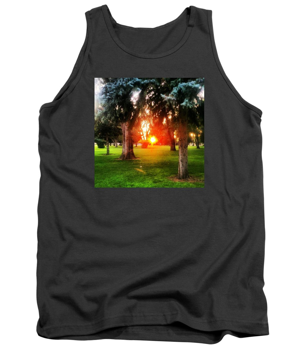 Sunset Tank Top featuring the photograph A Hope For Another Day by Anthony Loch