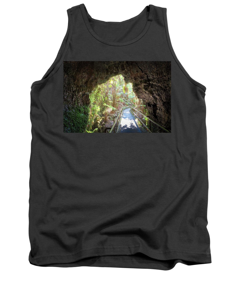 Thurstons Lava Tube Tank Top featuring the photograph A Last Look Back by Susan Rissi Tregoning