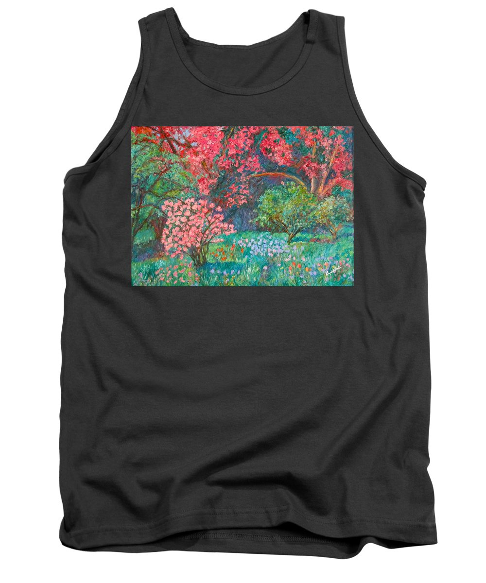 Landscape Tank Top featuring the painting A Memory by Kendall Kessler