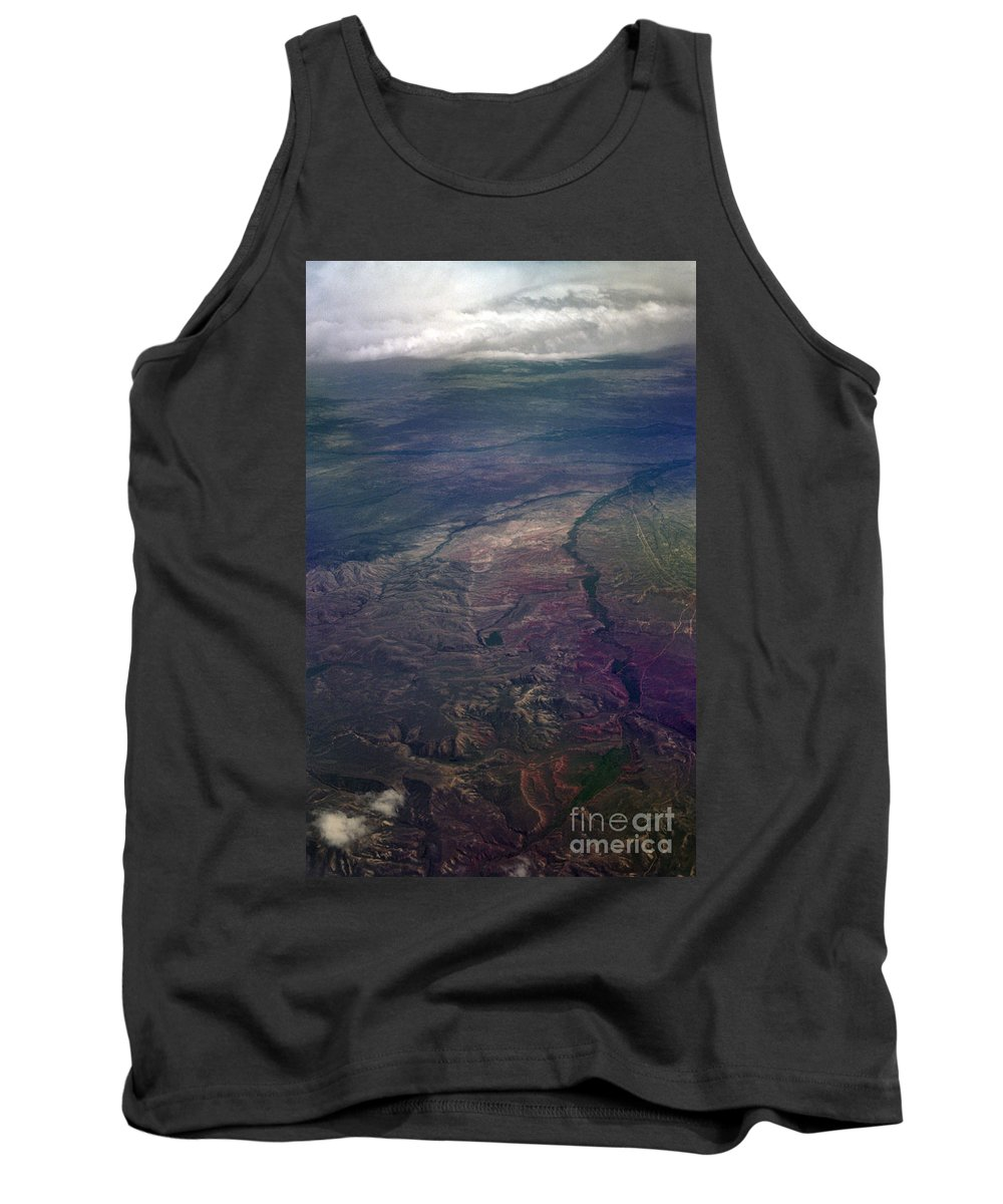 Aerial Photography Tank Top featuring the photograph A Midwestern Landscape by Richard Rizzo