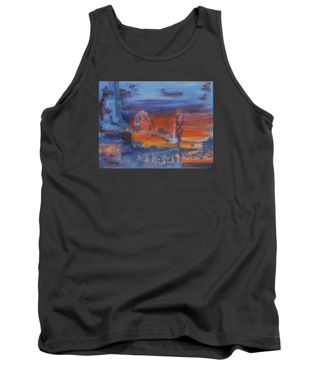 Abstract Tank Top featuring the painting A Mystery Of Gods by Steve Karol