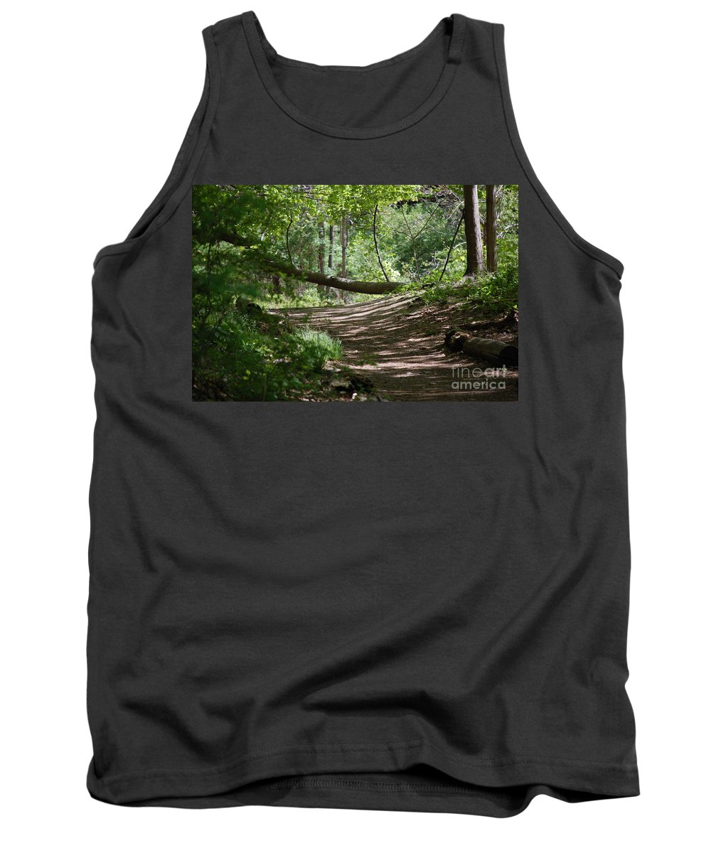 Landscape Tank Top featuring the photograph A Path In The Woods by David Lane