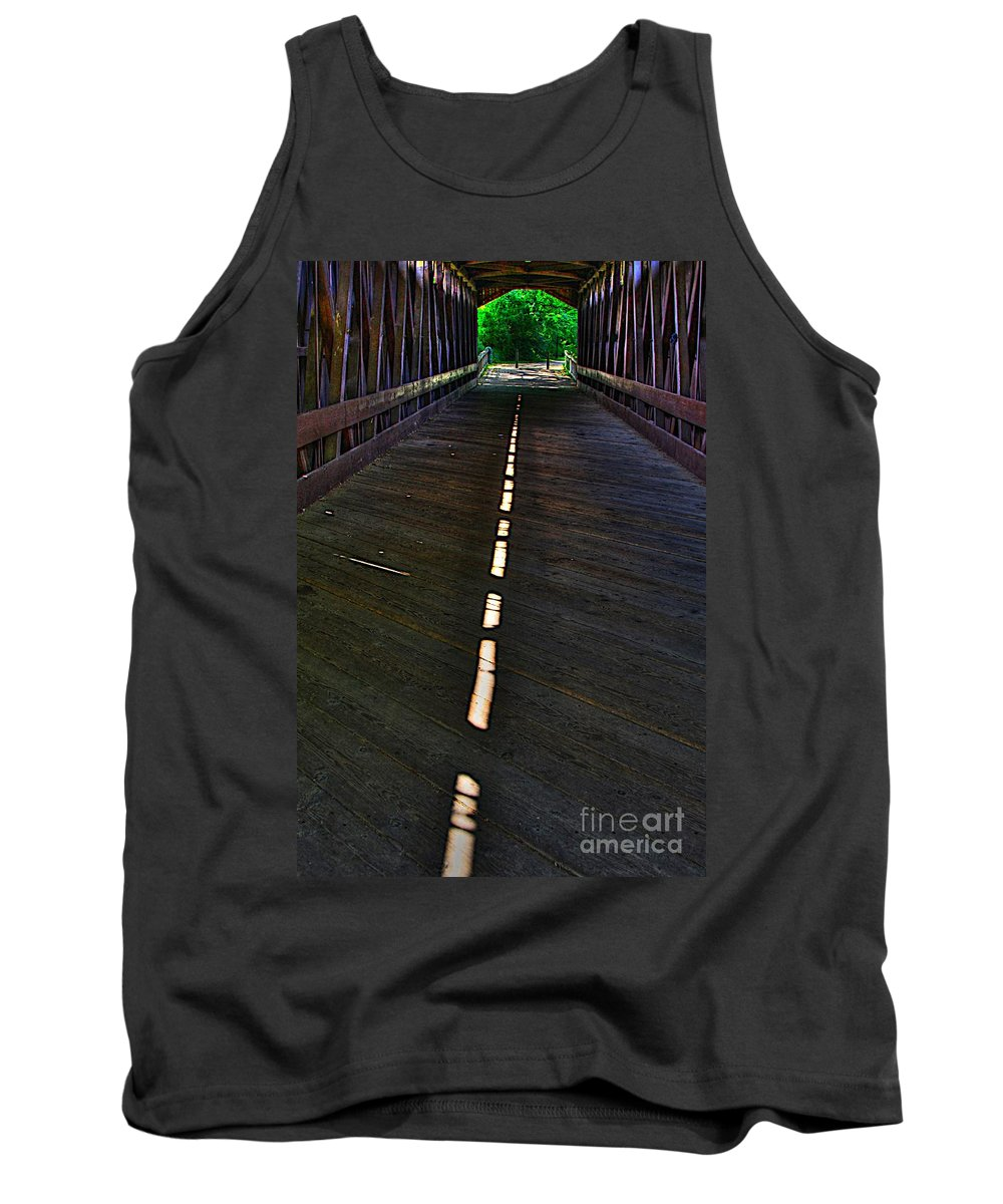 Light Tank Top featuring the photograph A Path Of Light by Robert Pearson