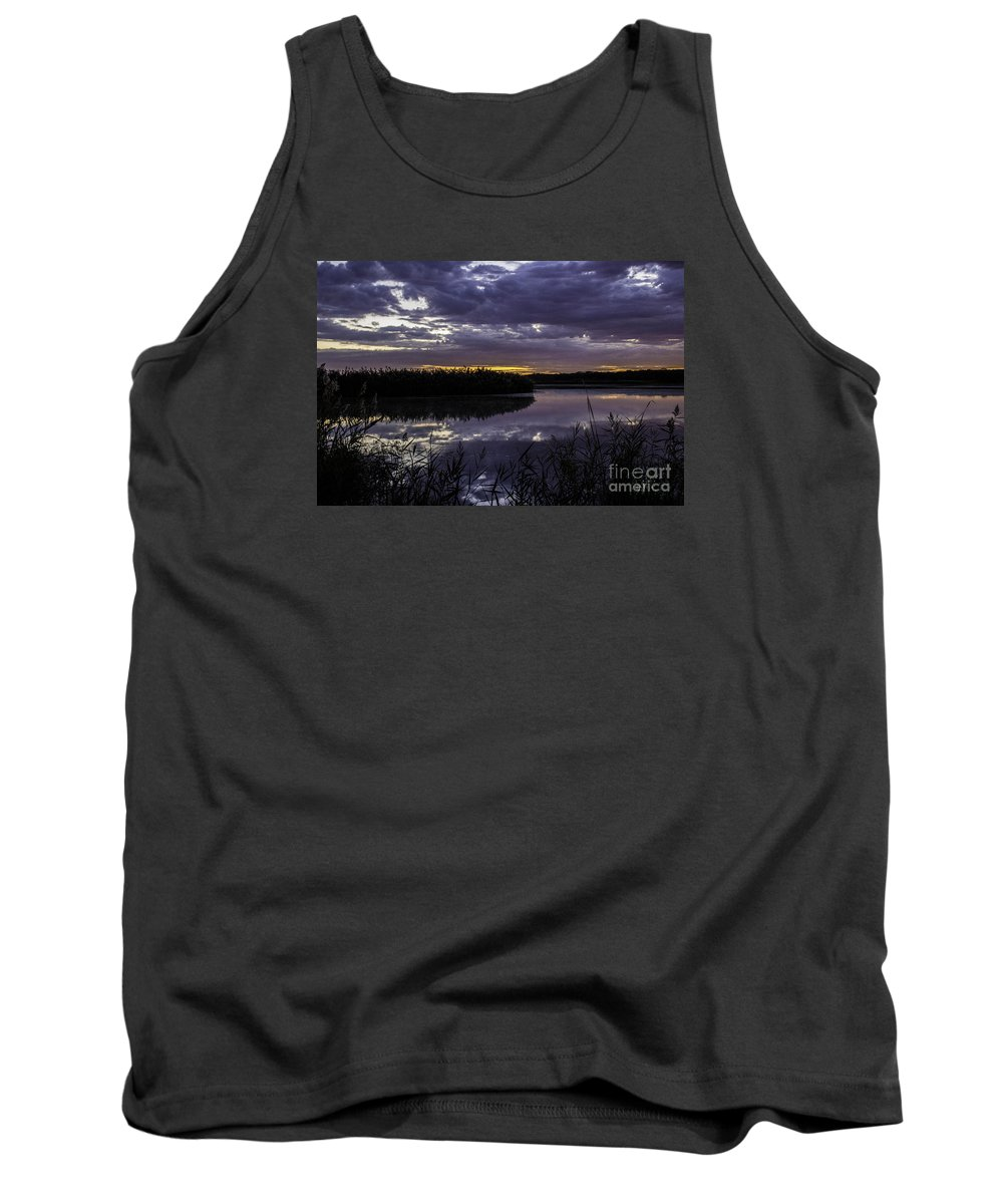 Purple Tank Top featuring the photograph A Purple Dawn by Doug Daniels