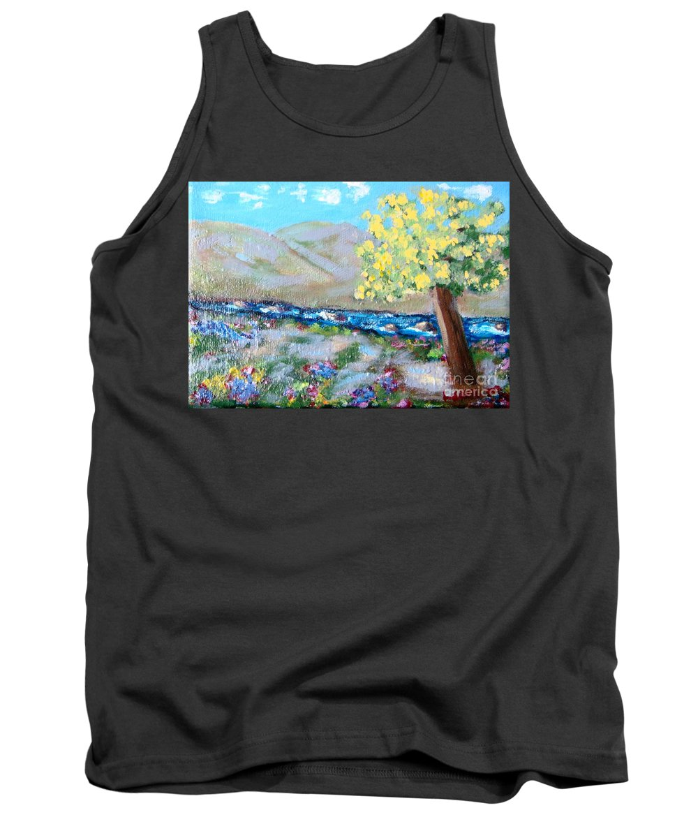Landscapes Tank Top featuring the painting A Quiet Place by Laurie Morgan