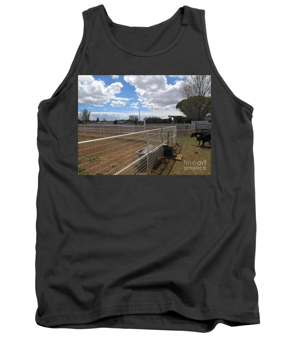 A Tank Top featuring the photograph A Ranch Scene by Frederick Holiday