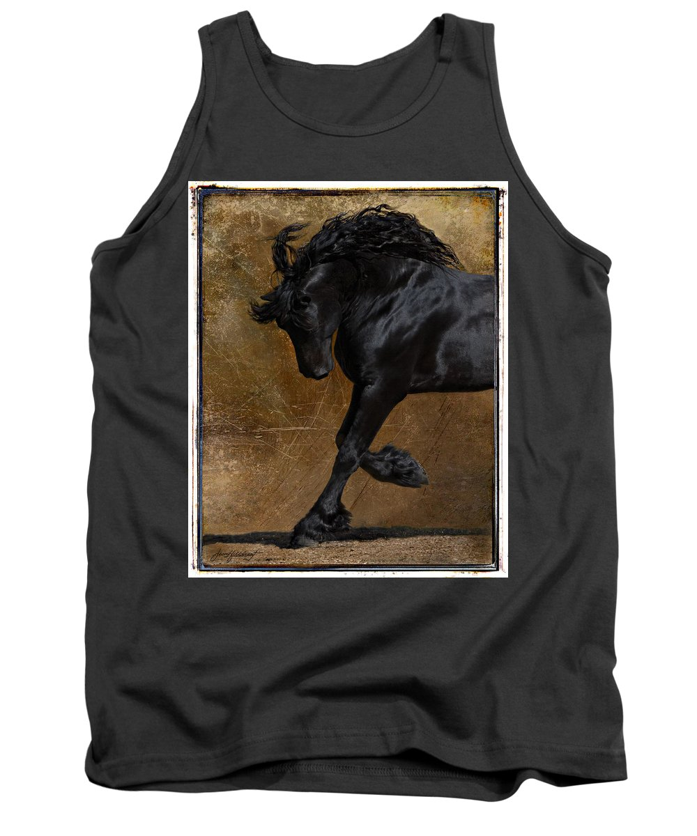 Horse Tank Top featuring the photograph A Regal Bow by Jean Hildebrant