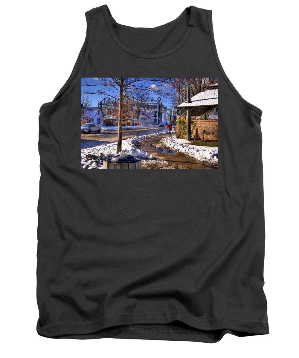 Scenic Tank Top featuring the photograph A Sandpoint Winter by Lee Santa