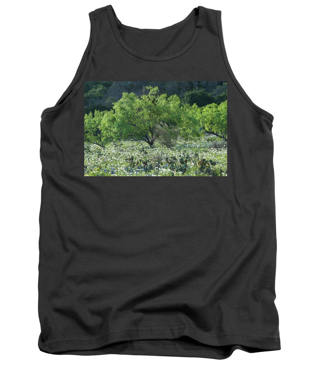 Texas Tank Top featuring the photograph A Spring Scene In Texas. by Usha Peddamatham