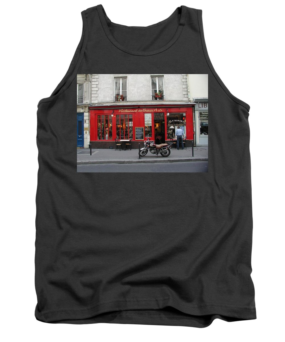 Red Tank Top featuring the photograph A Stop Along The Journey by Tom Reynen