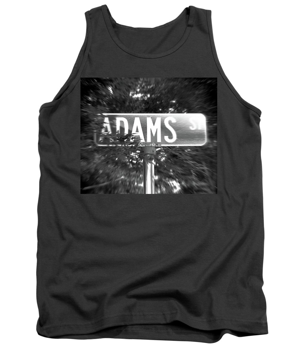 Tank Top featuring the photograph Ad - A Street Sign Named Adams by Jenifer West