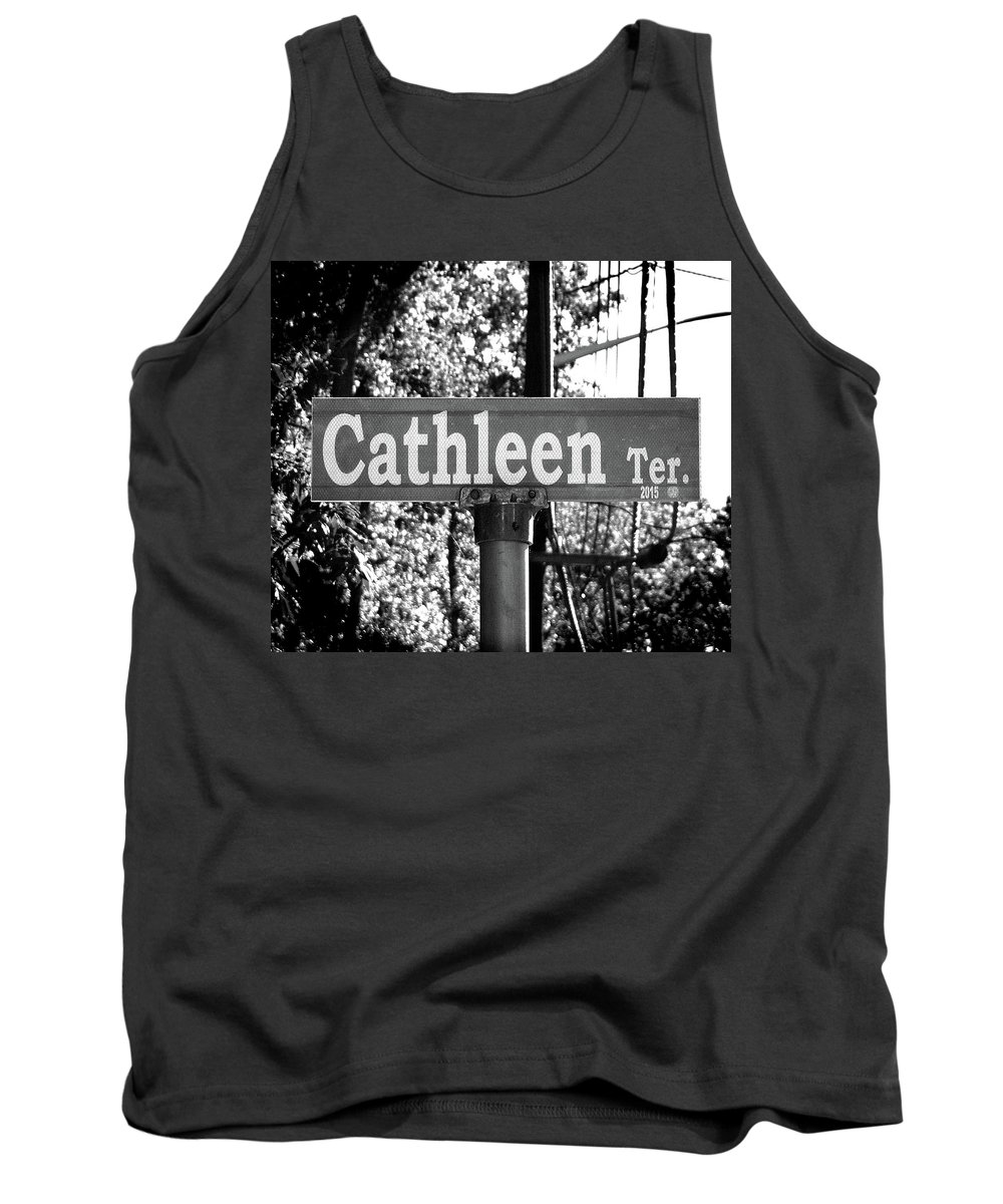 Cathleen Tank Top featuring the photograph Ca - A Street Sign Named Cathleen by Jenifer West