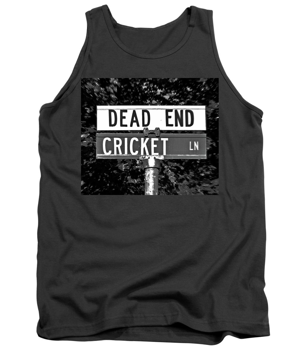 Cricket Tank Top featuring the photograph Cr - A Street Sign Named Cricket by Jenifer West
