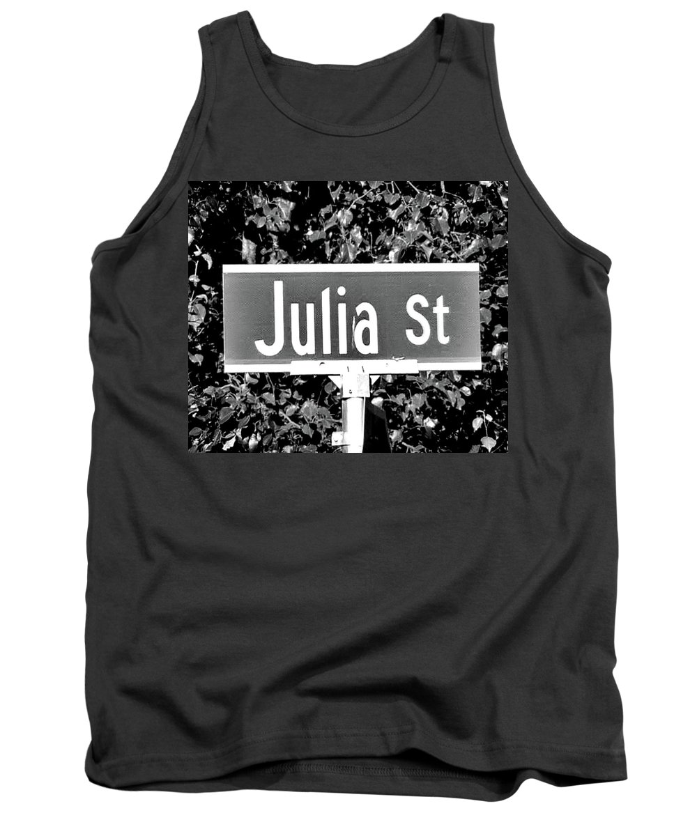 Julia Tank Top featuring the photograph Ju - A Street Sign Named Julia by Jenifer West