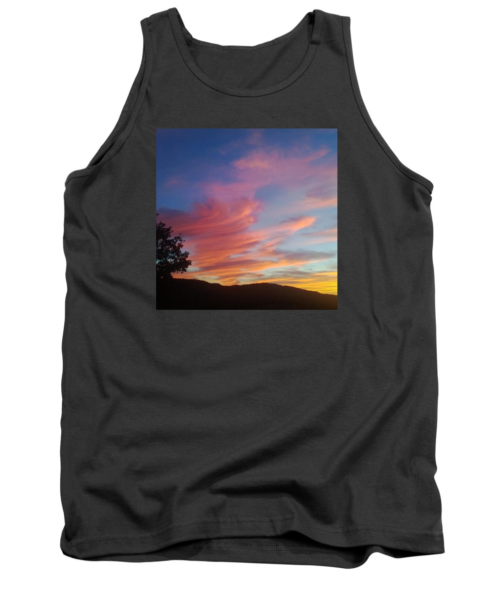 Sunset Tank Top featuring the photograph A Touch Of Yellow by Cathy Christian