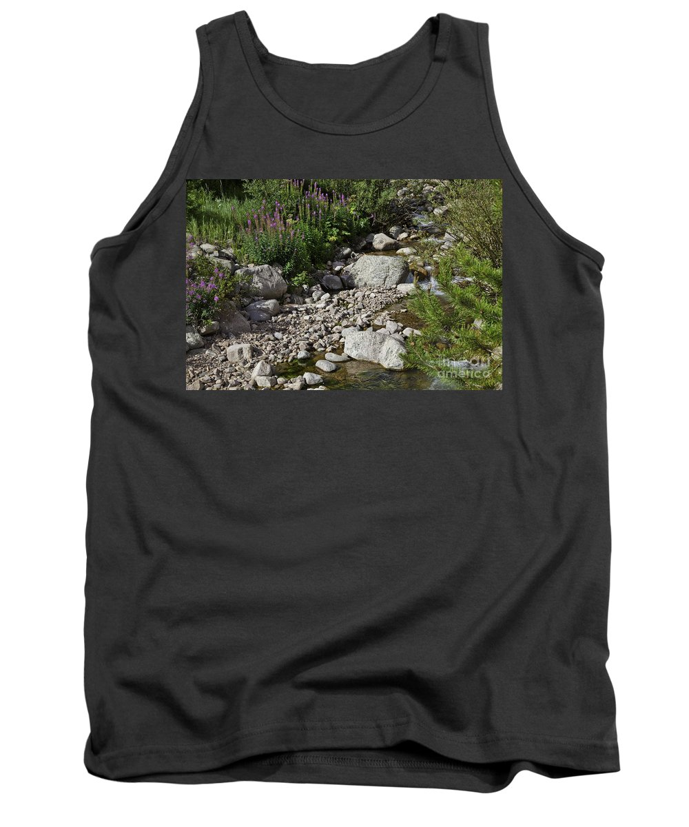 Stream Tank Top featuring the photograph A Vail Stream by Madeline Ellis