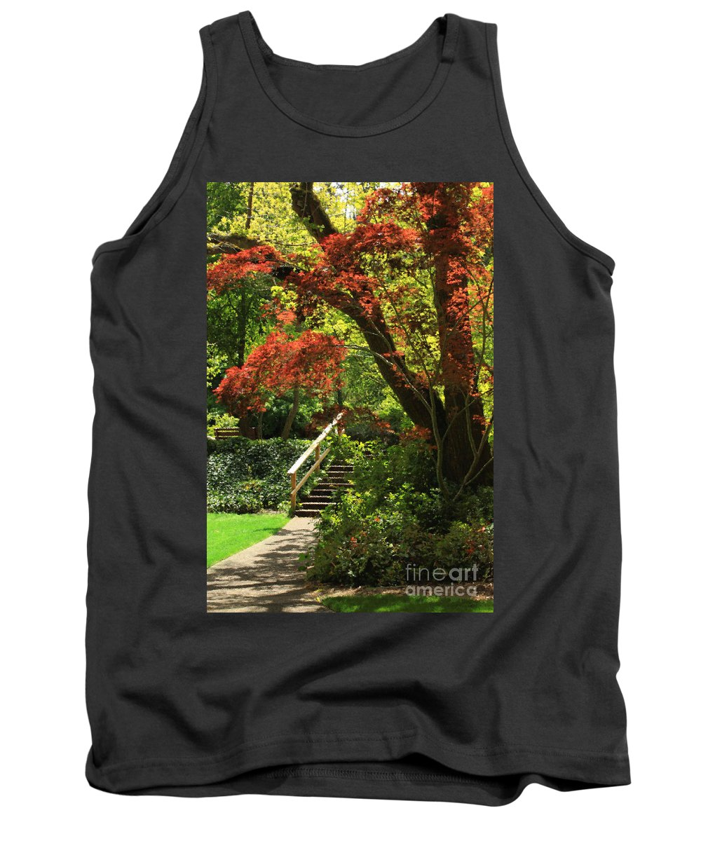 Floral Tank Top featuring the photograph A Walk In Lithia Park by James Eddy