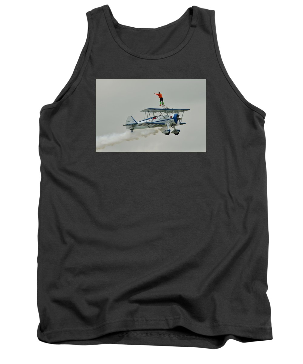 Airplane Tank Top featuring the photograph A Wing And A Prayer by Robert Coffey