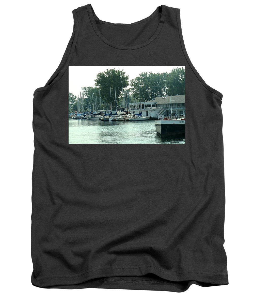 Toronto Tank Top featuring the photograph A Yacht Club by Ian MacDonald