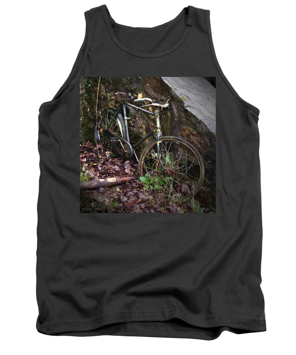 Irish Tank Top featuring the photograph Abandoned Bicycle by Tim Nyberg