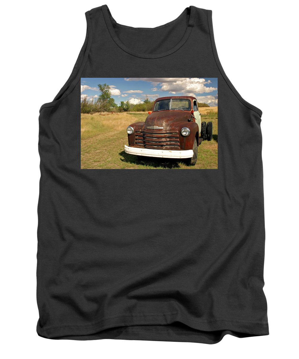 Chevy Tank Top featuring the photograph Abandoned Chevy by Inge Riis McDonald