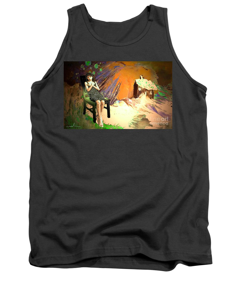Absent Love Tank Top featuring the painting Absent Love by Miki De Goodaboom