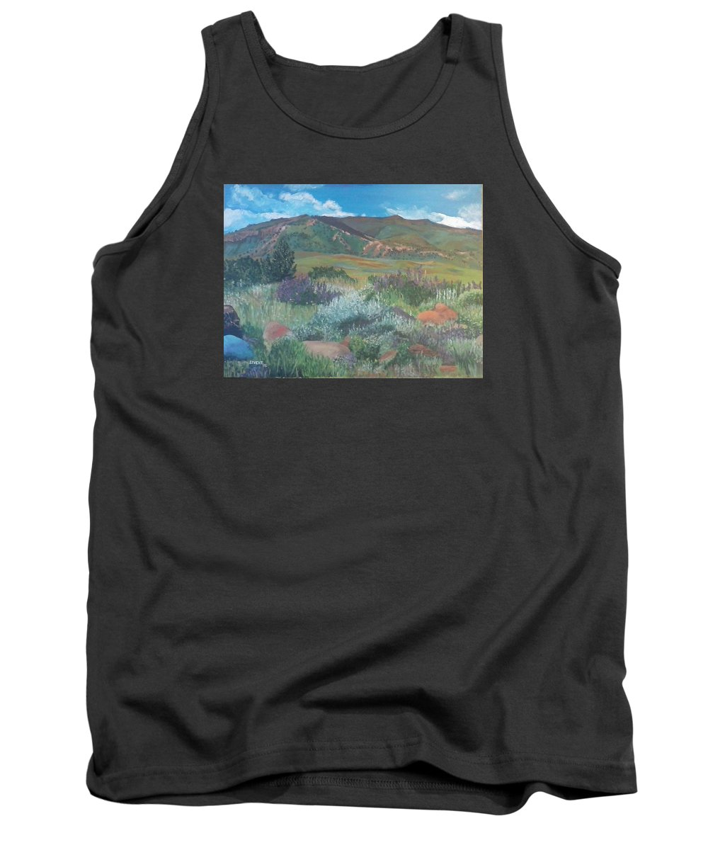 Wyoming Mountains Tank Top featuring the painting Absoraka by Robert Levene