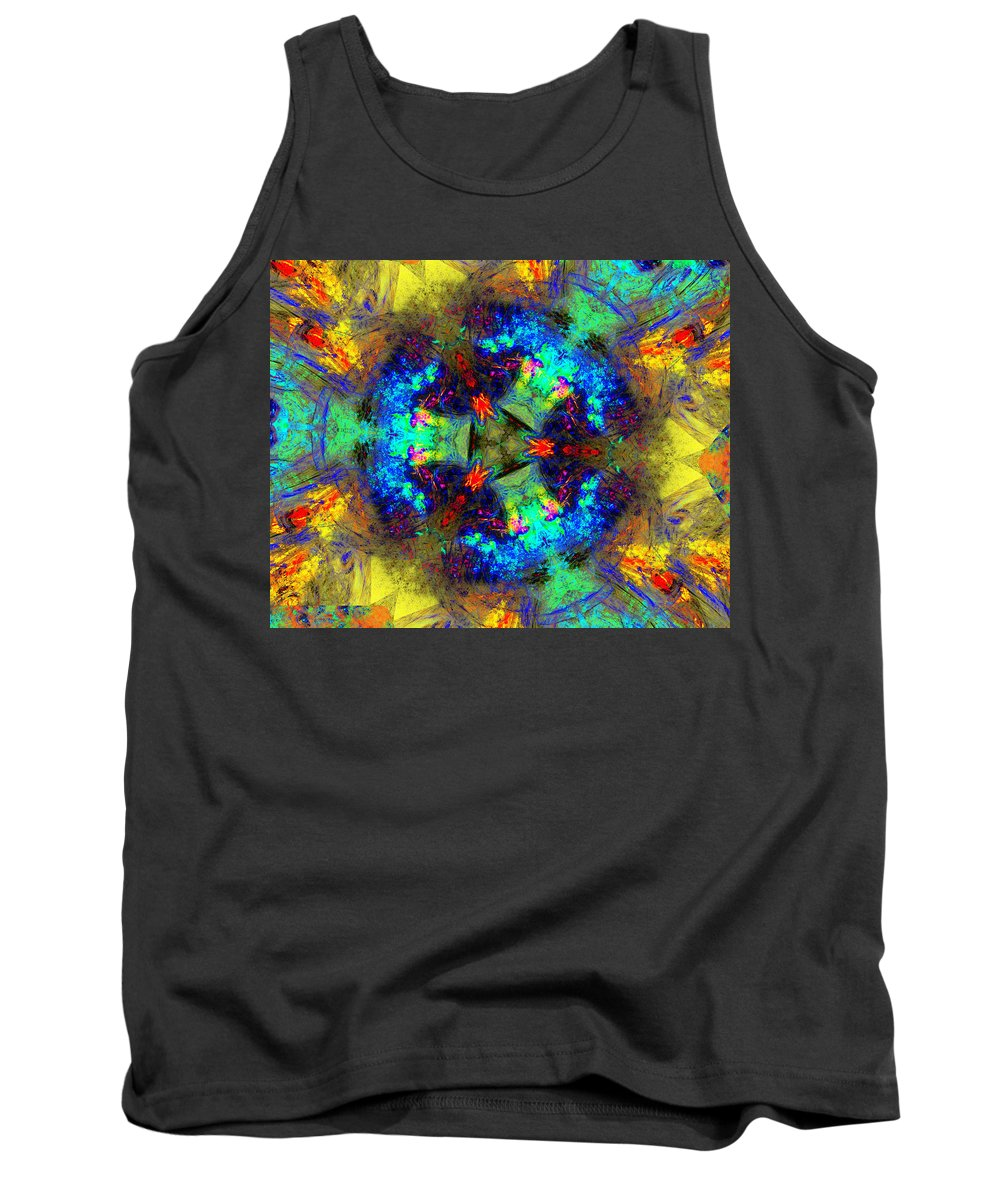 Abstracts Tank Top featuring the digital art Abstract 012211 by David Lane