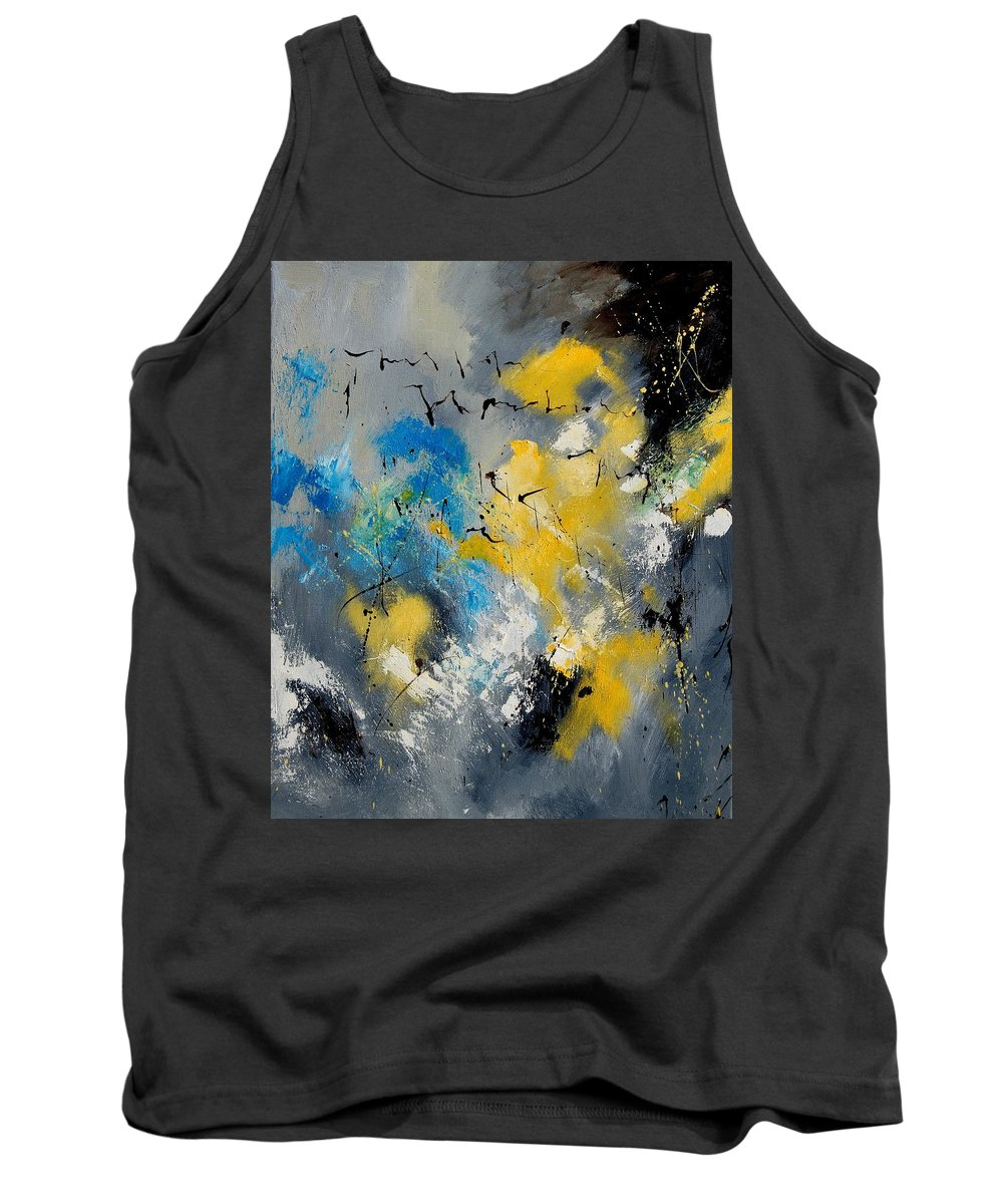 Abstract Tank Top featuring the painting Abstract 569070 by Pol Ledent