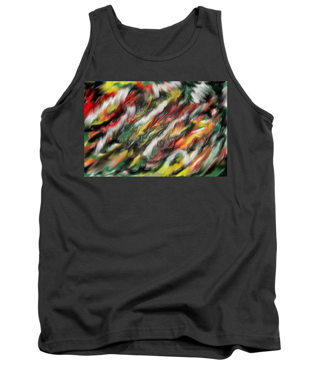Digital Tank Top featuring the digital art Digital Abstract #7 by Sarah Mazucci