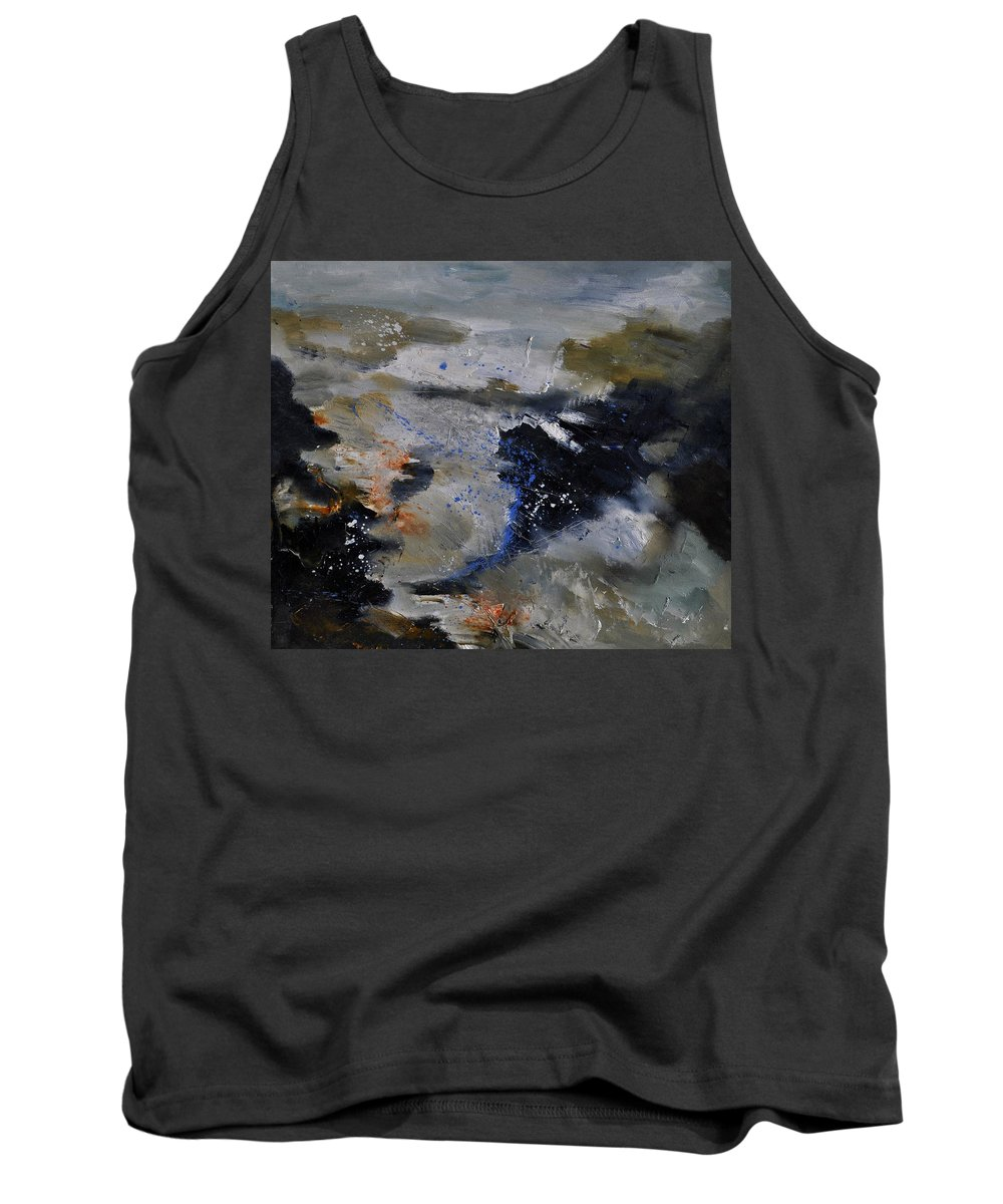 Abstract Tank Top featuring the painting Abstract 780808 by Pol Ledent