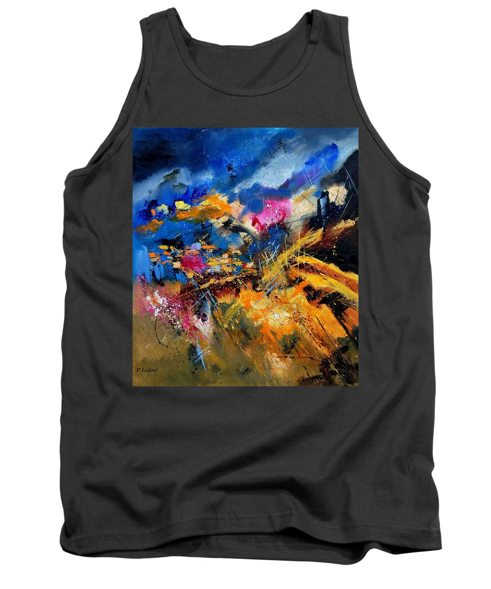 Abstract Tank Top featuring the painting Abstract 7808082 by Pol Ledent