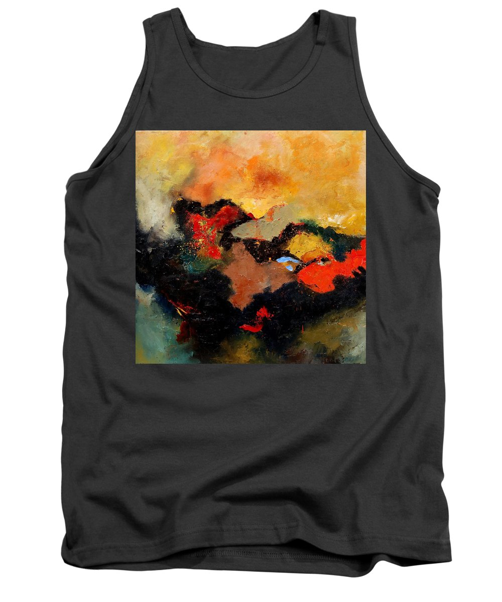 Abstract Tank Top featuring the painting Abstract 8080 by Pol Ledent