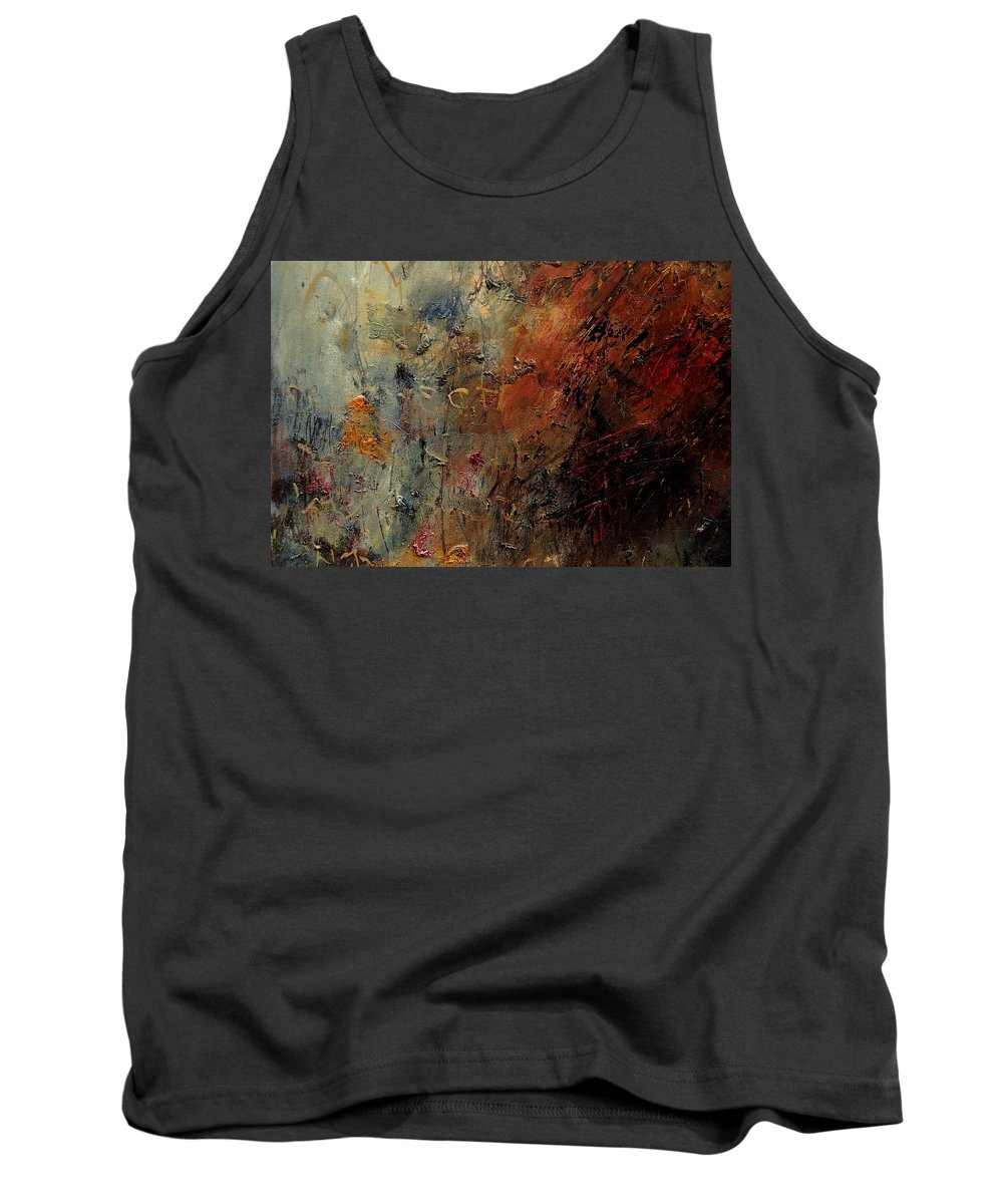 Abstract Tank Top featuring the painting Abstract 900192 by Pol Ledent